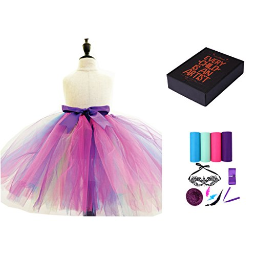 Diy Infant Halloween Costumes (Princess Girls Halloween DIY Witch Costumes with Mask,Multicolor Dress Age3-10years)