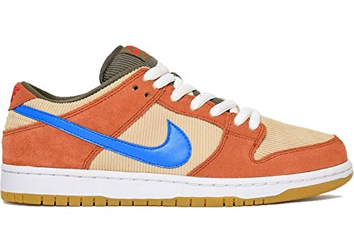 Nike Sb Dunk Low Pro Adult Unisex Sneakers BQ6817-201, Dusty Peach/Photo Blue-Desert Ore, Size US 12 ()
