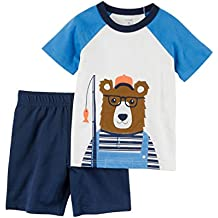 COCOSUN 100% Cotton Boys Short Sleeve Set For Summer Wear Casual&Play