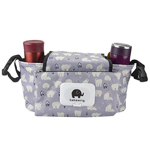 Trenky Universal Stroller Organizer Diaper Bag-Diaper Bag with Two Cup Holders and Extra Storage Space for Organize The Baby Accessories