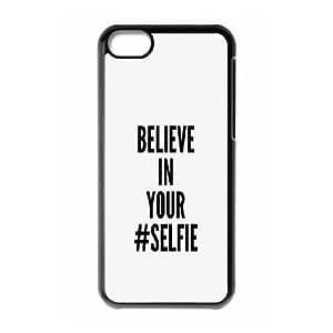XiFu*Meiiphone 6 plua 5.5 inch Case,Believe In Your Selfie Hard Shell Back Case for Black iphone 6 plua 5.5 inch Okaycosama381316XiFu*Mei
