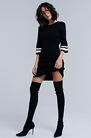 Q2 Dress for Women - Black
