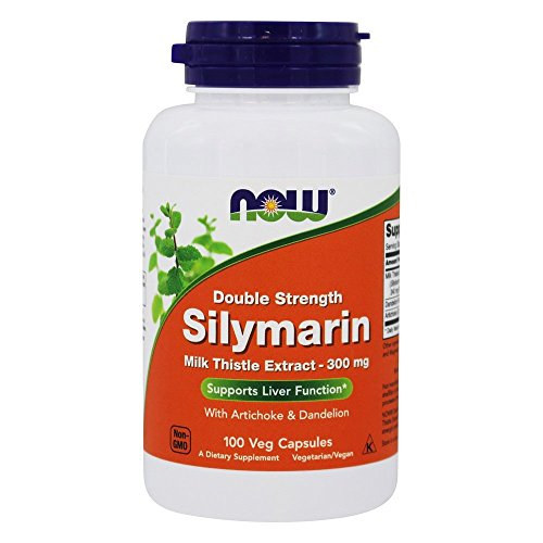 Now Foods - Silymarin Milk Thistle Extract with Artichoke and Dandelion - 2X - 300 mg. - 100 Vegetarian Capsules