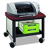 Desk Printer - Safco Products Impromptu Under Desk Printer Stand 1862BL, Cherry Top/Black Frame, 50 lbs. Capacity, Contemporary Design, Swivel Wheels