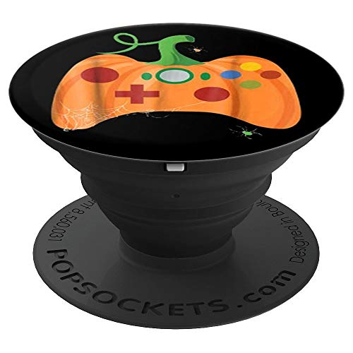 Pumpkin Joystick PopSocket- Funny Halloween Gamier Gift Idea - PopSockets Grip and Stand for Phones and Tablets ()
