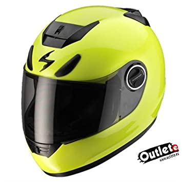 CASCO SCORPION EXO-750 R AIR AMARILLO FLUOR TRICOMPOSITE KEVL