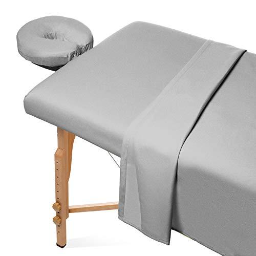 Saloniture 3-Piece Flannel Massage