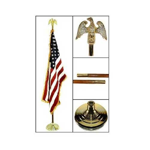 Indoor American Flag Flagpole Base and Tassel