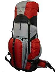 Expandable Hiking Backpack Large 6000ci-8000ci Camping Backpack Scout Daypack Aluminum Frame Sport Pack Outdoor...
