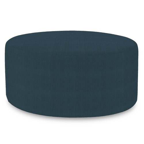 Howard Elliott Replacement Cover for Universal Round Ottoman, 36-Inch, Sterling Indigo (Ottoman Round Covers)