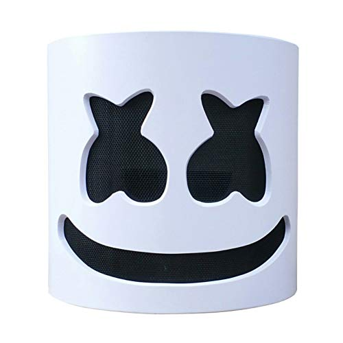 Hengzhi DJ Marshmello Mask Led Helmet Cosplay Full Head Latex Mask Music -