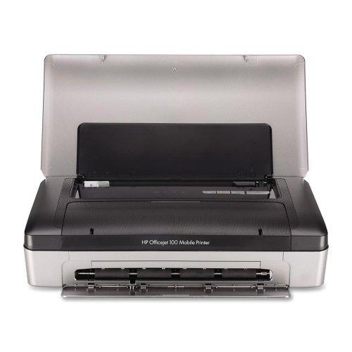 HP OJ100 Mobile Printer -Mobile Printer, 50 Sht Cap, 13-7/10''x7''x3-3/10'', Black