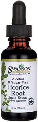 Swanson Licorice Root Liquid Extract Alcohol and Sugar-Free 1 fl Ounce 29.6 ml Liquid