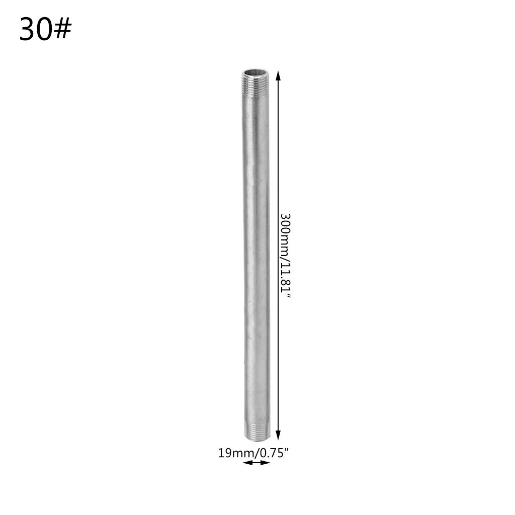 Silver JOYKK 5cm Stainless Steel Shower Rod Extension Tube Extended Bar Pipe Water Pipe Fittings