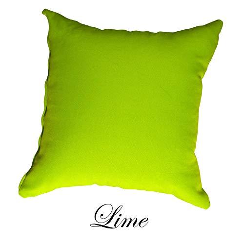 D&D Futon Furniture Solid Color Decorative Throw Pillow Cover Case. (Lime, ()