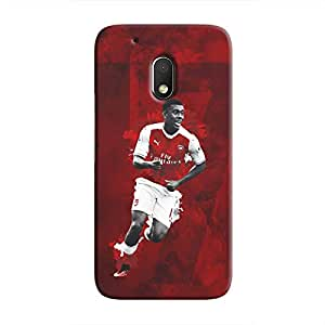 Cover It Up - Alex Iwobi Red موتو جي4 بلاس Hard Case