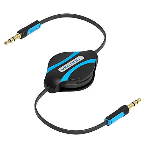 Tuscom Vention 3.5mm Jack Male to Male Flexible Retractable Stereo Aux Audio Cable Cord