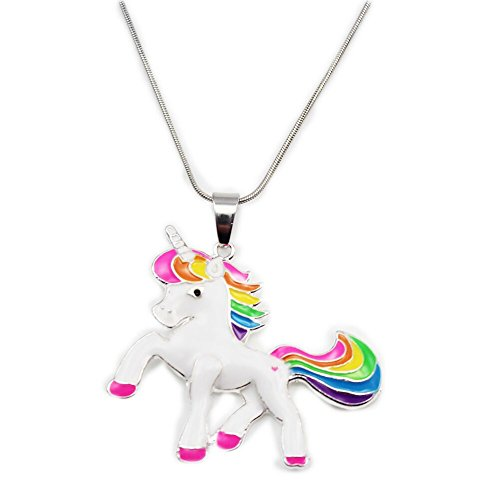 Artvine 2inch1.8inch Pandent Unicorn Birthday Gifts Necklace Baby Girl Unicorn Necklace (Stytle 2) ()