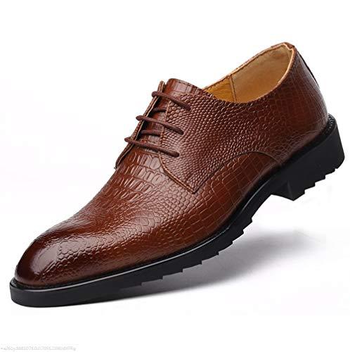 パンツカウンターパート振るうビジネスレザー靴メンズキャップトゥレースアップレザーShoesMenのワルツイタリアの本物のレザーコレクションのドレスシューズ
