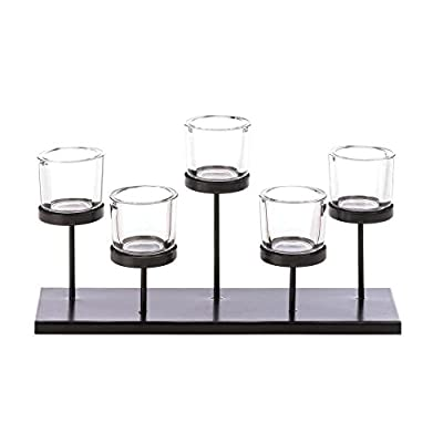 5 Cups Staggered Candleholder Stand Votive Holder