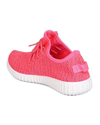 Wild Diva Delano-02 Maglia Da Donna In Jogging Casual Palestra Tessuto Da Ginnastica In Esecuzione Sneaker Neon Rosa