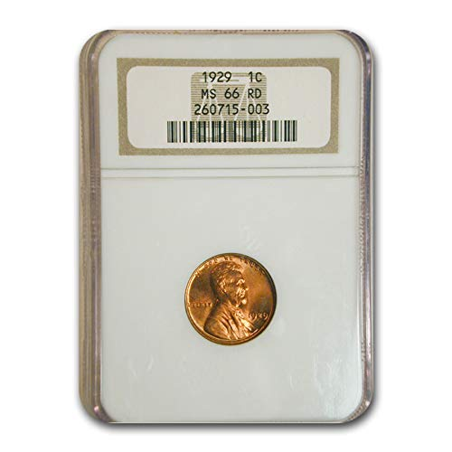 1929 Lincoln Cent MS-66 NGC (Red) Cent MS-66 NGC