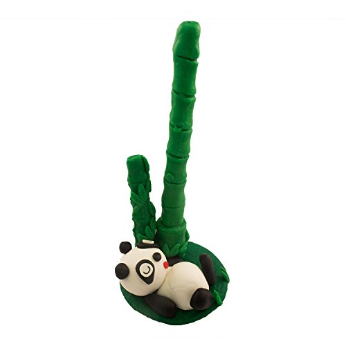 DIYJewelryDepot TM: High Quality Hand Made Polymer Clay Cartoon Pen With Holder - Panda