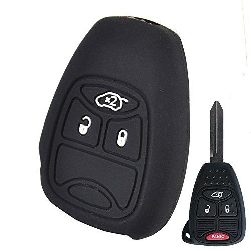 Silicone Car Remote Key Fob Shell Cover Case For Chrysler Sebring For Dodge Caliber Dakota Avenger Durango RAM Nitro Charger