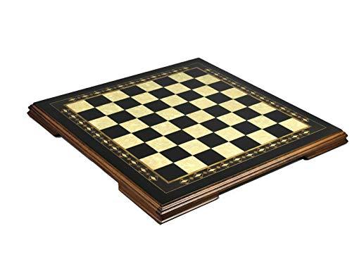 Wooden Helena Chess Board Charcoal Black Ebony – 23″ 2625B