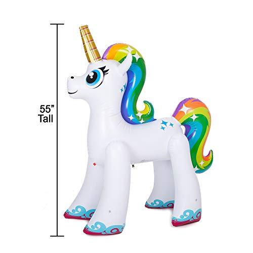 JOYIN Inflatable Unicorn Yard Sprinkler, Lawn Sprinkler for Kids, 55'' Tall by JOYIN (Image #3)