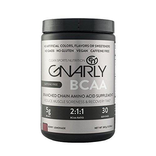 Gnarly BCAA Workout Supplement CAFFEINE FREE || All Natural Muscle Recovery (Berry Lemonade)