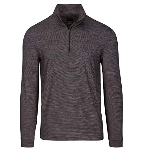 Greg Norman New Men's 2019 Micro Stripe 1/4 Zip Golf Pullover Black Large