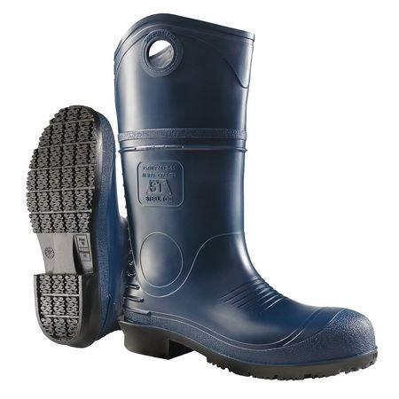Knee Boots, Plain Toe, Size 12, Blue, PR