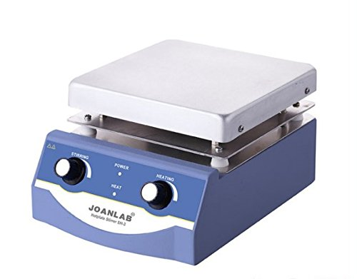 JoanLab HS-17 Magnetic Stirrer Hot Plate, Stir Plate, Magnetic Mixer with Heating Dual Controls for Heating and Stirring 3,000mL, 100~1600rpm, 500W, 350°C Vwr Analog