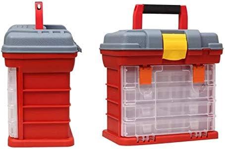 Multifunction 4 Layers Plastic Box, Large Box Screw Parts Storage Box Storage Lures Box Accessories Tool Box