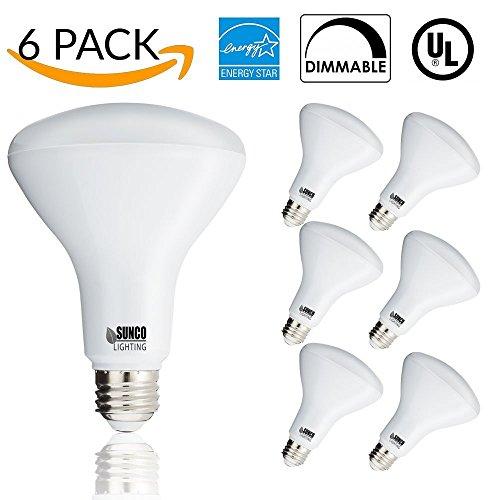 Sunco Lighting 6 PACK- BR30 LED 11WATT (65W Equivalent), 3000K Warm White, DIMMABLE, Indoor/Outdoor Lighting, 850 Lumens, Flood Light Bulb, UL & ENERGY STAR LISTED (Flood Light Outdoor Bulbs)