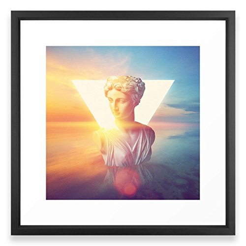 Society6 Vaporwave Framed Print Vector Black MEDIUM (Gallery)