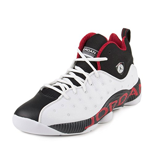 Nike Jordan Men's Jordan Jumpman Team II White/Black/Varsity Red Basketball Shoe 10.5 Men US