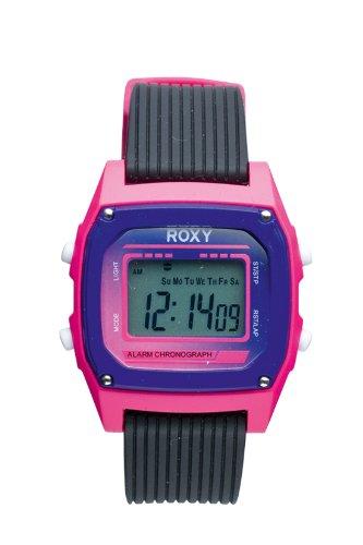 Roxy W220DR 76TBKP - Reloj digital de mujer de cuarzo con correa de plástico rosa (