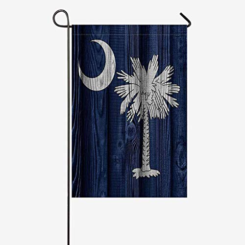INTERESTPRINT Flag of South Carolina State (USA) On Wood Garden Flag House Banner, Decorative Yard Flag for Wishing Party Home Outdoor Decor, 12