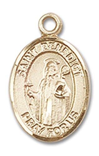 14-karat-gold-catholic-patron-saint-medal-charm-pendant-1-2-inch