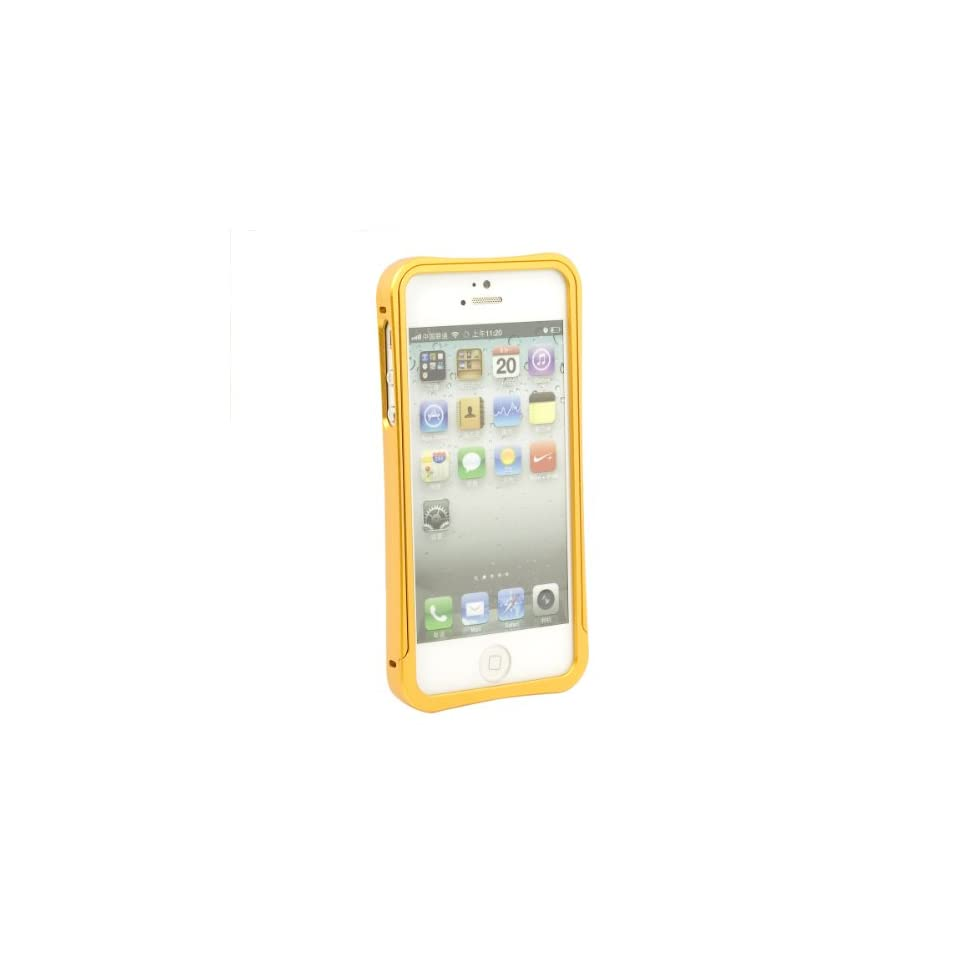 Luxury Aluminum Metal Frame Bumper Case Cover For New iPhone 5 5G Gold PC339J Cell Phones & Accessories