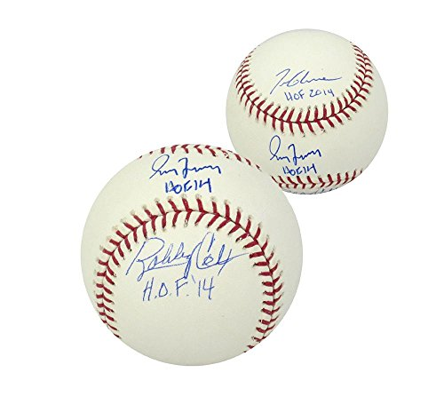 ox & Tom Glavine Signed Official Rawlings Baseball with