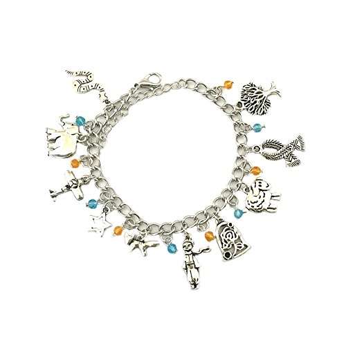 [The Little Prince Movie Silver Tone Multiple Charms Bracelet w/Gift Box by Superheroes] (Storm X Men Costume Comic)