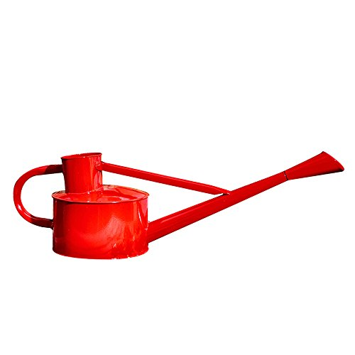 Calunce Iron Bright Colour Rustic Retro Gardening Tools Long Spout Watering Can (red)