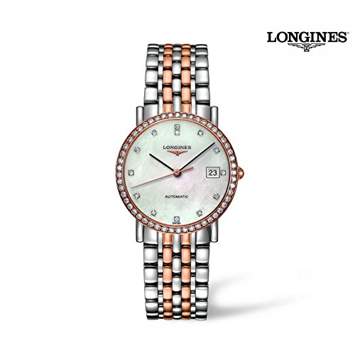 Longines Elegant Collection - L4.809.5.88.7 - 18K Rose Gold MOP Diamond Dial Diamond Bezel Automatic Women's