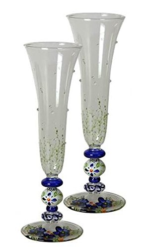 Amazon Golden Hill Studio Delicate Blown Glass Champagne Flute