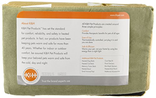"""31THU-nJcUL K&H Pet Products Thermo-Kitty Mat Heated Pet Bed Sage 12.5"""" x 25"""" 6W"""