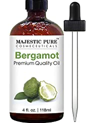 Majestic Pure Bergamot Oil, Premium Quality, 4 fl. oz.