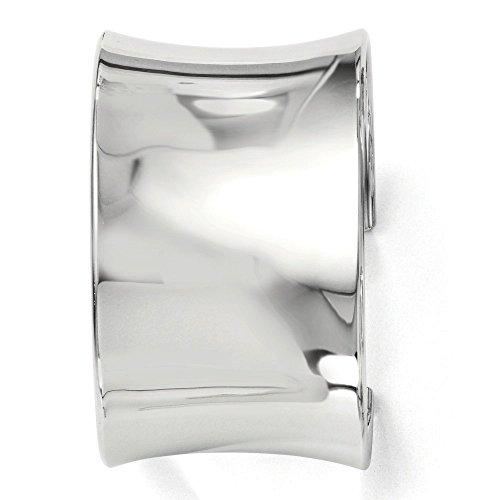 40,5 mm Argent Sterling poli Bracelet à enfiler-JewelryWeb